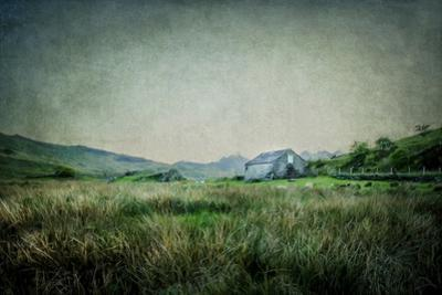 English Landscape with Old Barn by Mark Gemmell
