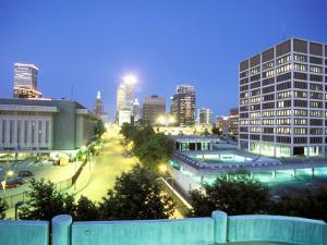 Downtown Evening Lighting, Tulsa, Oklahoma by Mark Gibson