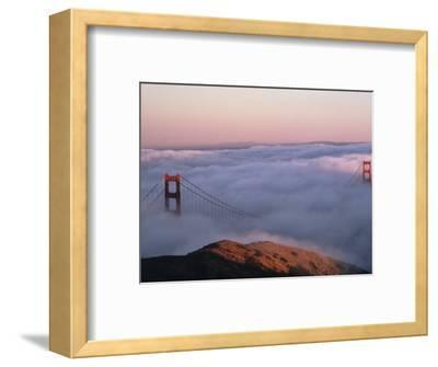 Golden Gate Bridge Enveloped by Fog, San Francisco, California, USA