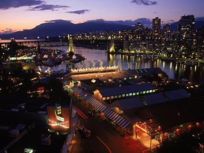Granville Island, Dusk, Vancouver, BC, CAN