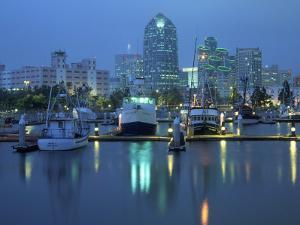 Harbor & Downtown at Dusk, San Diego, CA by Mark Gibson