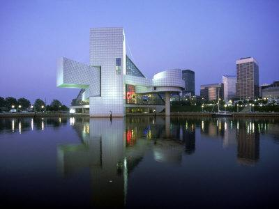 Rock and Roll Hall of Fame in Cleveland at Dusk