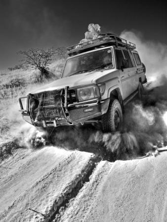 Damaraland, Four Wheel Drive Vehicles are the Best Means of Travel in Desert Environment, Namibia