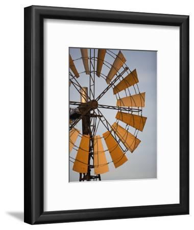 Erongo Region, Okahandja, the Fins of a Windmill Highlighted by the Setting Sun, Namibia