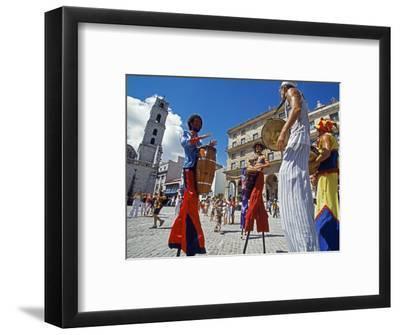 Los Zancudos, Stilt Dancers in Old Havana World Heritage Area, Cuba