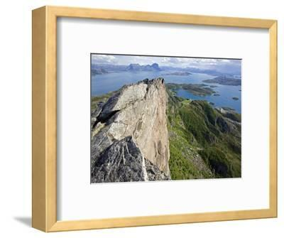 Nordland, Helgeland, Rodoy Island, View of the Surrounding Islands from the 400 Metre High Peak of