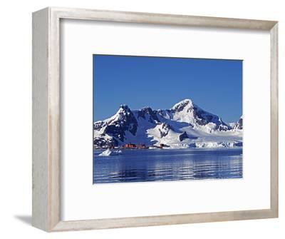 Paradise Harbour, the Chilean Base in Paradise Harbour on Antarctic Peninsula, Antarctica