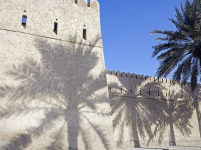Traditional Mud Built Fort Overlooking Bay to Front of Small Town of Khasab, Oman