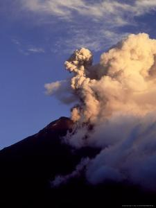 Tungurahua Volcano Erupting, Andes, Ecuador by Mark Jones