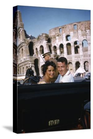 August 1960: Harold Connolly and His Wife Olga Fikotova at the 1960 Rome Olympic Games, Rome