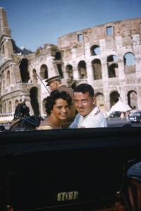 August 1960: Harold Connolly and His Wife Olga Fikotova at the 1960 Rome Olympic Games, Rome by Mark Kauffman
