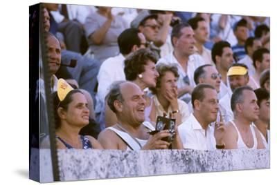 August 25, 1960: Spectators at the 1960 Rome Olympics' Opening Ceremony