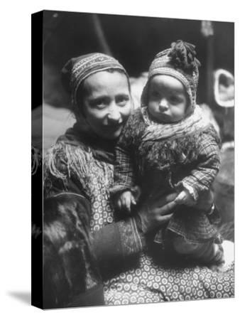 Lapp Woman Holding Her Child