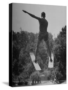 Man Competing in the National Water Skiing Championship Tournament by Mark Kauffman