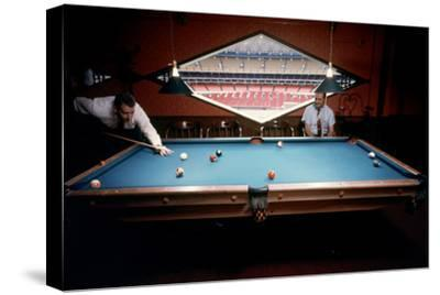Men Paying Billiards in a Sky Room of Harris County Domed Stadium 'Astrodome', Houston, TX, 1968
