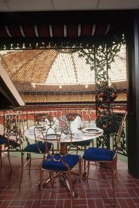 Restaurant Overlooking Playing Field of Harris County Domed Stadium 'Astrodome', Houston, TX, 1968 by Mark Kauffman