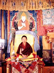 Tibetan Boy Lama by Mark Kauffman