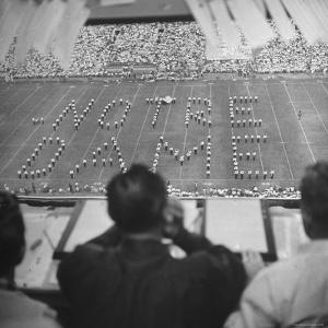 View of a Notre Dame Football Game by Mark Kauffman