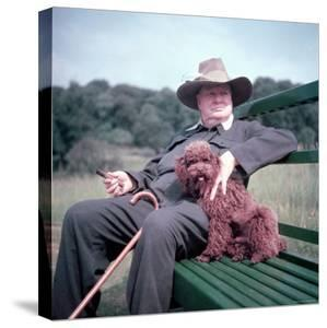 Winston Churchill and Pet Dog by Mark Kauffman