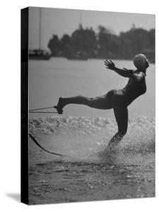 Woman Competing in the National Water Skiing Championship Tournament by Mark Kauffman