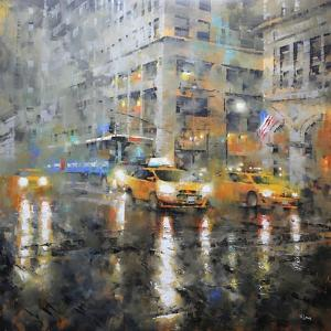 Manhattan Orange Rain by Mark Lague