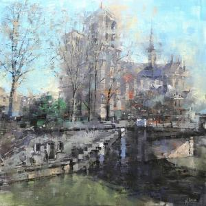 Notre Dame on the Seine by Mark Lague