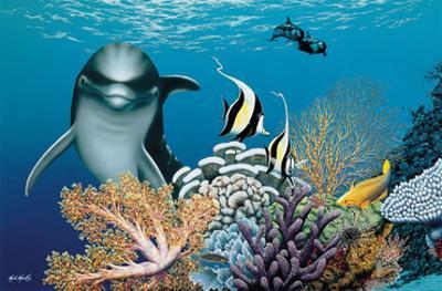Coral Garden, Hawaiian Dolphin