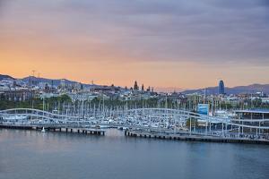 Barcelona Marina at Sunset, Barcelona, Catalonia, Spain by Mark Mawson