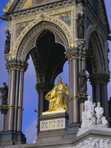 Statue of Prince Albert, Consort of Queen Victoria, the Albert Memorial, London, England by Mark Mawson