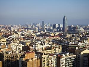 View From the Top of the Sagrada Familia, Barcelona, Catalonia, Spain, Europe by Mark Mawson