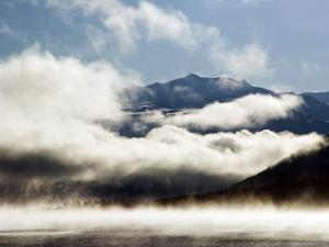 Kluane Mountains Framed by Drifting Cloud by Mark Newman