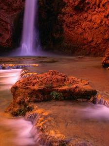 Mooney Falls in the Havasupai Indian Reservation, Grand Canyon National Park, Arizona by Mark Newman