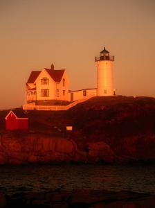 Museum and Portland Head Light House at Cape Elizabeth, Portland, Maine, Portland, USA by Mark Newman