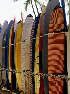 Surfboards, Waikiki Beach Oahu, Hawaii by Mark Polott