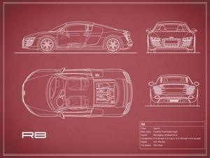 Audi R8 V10-Maroon by Mark Rogan
