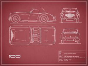 Austin-Healey 100-Maroon by Mark Rogan