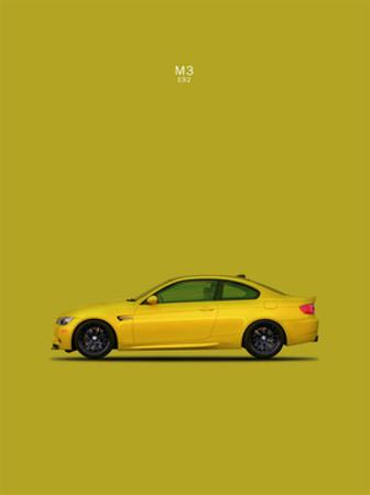 BMW M3 E92 Yellow