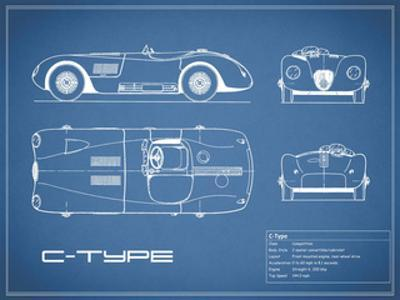 Jaguar C-Type-Blue