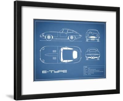 Jaguar E-Type-Blue