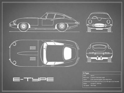 Jaguar E-Type-Grey