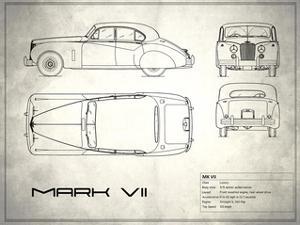 Jaguar Mk VII White by Mark Rogan