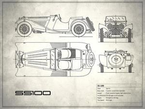 Jaguar SS1 White by Mark Rogan