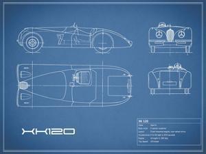 Jaguar XK-120-Blue by Mark Rogan