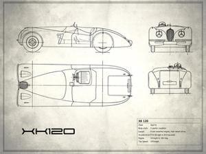 Jaguar XK-120 White by Mark Rogan