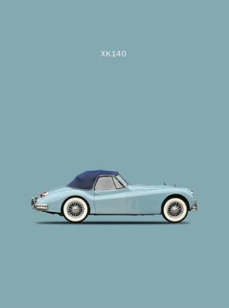 Jaguar XK140 Blue