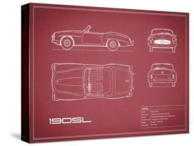 Mercedes 190-SL-Maroon