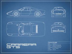 Porsche Carrera GTS-Blue by Mark Rogan