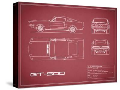 Shelby Mustang GT500-Maroon