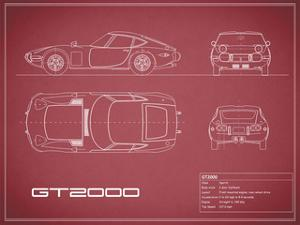 Toyota GT2000-Maroon by Mark Rogan