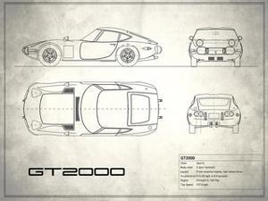 Toyota GT2000 White by Mark Rogan